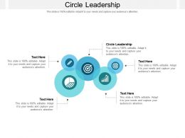 Circle Leadership Ppt Powerpoint Presentation Inspiration Diagrams Cpb