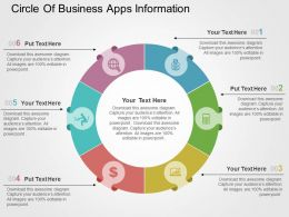 Circle Of Business Apps Information Flat Powerpoint Design