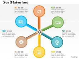 Circle Of Business Icons Flat Powerpoint Design