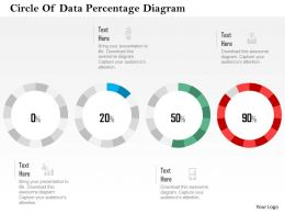 Circle Of Data Percentage Diagram Flat Powerpoint Design