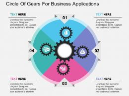 Circle Of Gears For Business Applications Flat Powerpoint Design