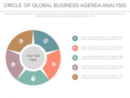 Circle Of Global Business Agenda Analysis Flat Powerpoint Design