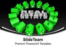 Circle Of Houses Real Estate Concept Powerpoint Templates Ppt Themes And Graphics 0313