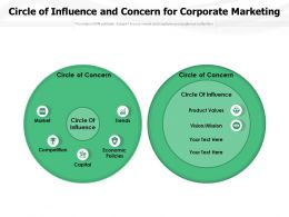 Circle Of Influence And Concern For Corporate Marketing