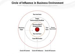 Circle Of Influence In Business Environment