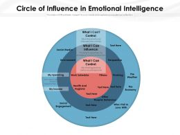Circle Of Influence In Emotional Intelligence