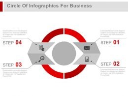 Circle Of Infographics For Business And Marketing Powerpoint Slides