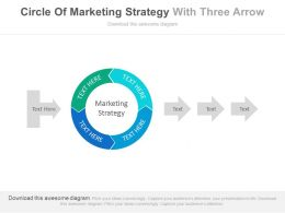 Circle Of Marketing Strategy With Three Arrows Flat Powerpoint Design