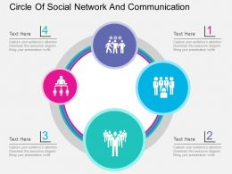 circle_of_social_network_and_communication_flat_powerpoint_design_Slide01