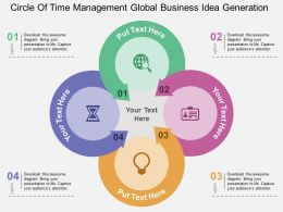 Circle Of Time Management Global Business Idea Generation Flat Powerpoint Design