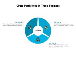 Circle Partitioned In Three Segment