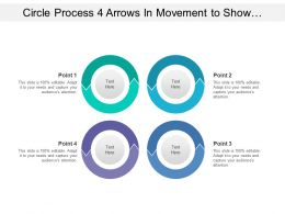 Circle Process 4 Arrows In Movement To Show Process Flow That Show Interconnectedness Of Categories