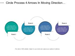 Circle Process 4 Arrows In Moving Direction Showing Regulating Mode Of Process