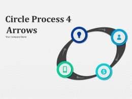 Circle Process 4 Arrows Movement To Show Process Flow