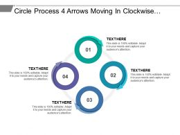 Circle Process 4 Arrows Moving In Clockwise Direction To Show Flow Of Process