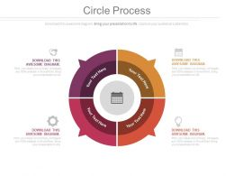 Circle Process Calender And Icons Powerpoint Slides