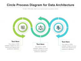 Circle Process Diagram For Data Architecture Infographic Template