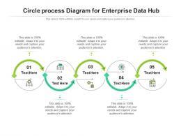 Circle Process Diagram For Enterprise Data Hub Infographic Template