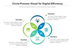 Circle Process Visual For Digital Efficiency Infographic Template