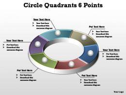 circle quadrants 6 points editable powerpoint templates