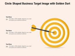 Circle Shaped Business Target Image With Golden Dart