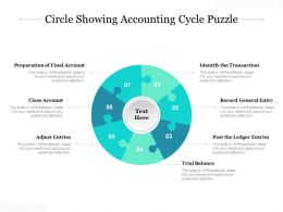 Circle Showing Accounting Cycle Puzzle
