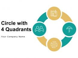 Circle With 4 Quadrants Organization Security Allowance Business Operational Marketing Strategies