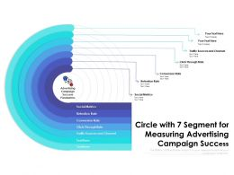 Circle With 7 Segment For Measuring Advertising Campaign Success