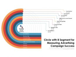 Circle With 8 Segment For Measuring Advertising Campaign Success