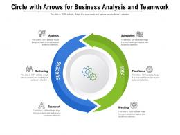 Circle With Arrows For Business Analysis And Teamwork