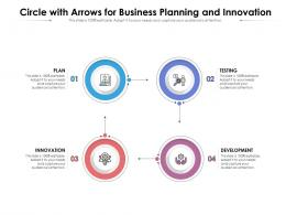 Circle With Arrows For Business Planning And Innovation