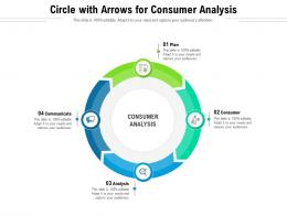 Circle With Arrows For Consumer Analysis