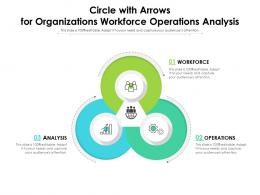 Circle With Arrows For Organizations Workforce Operations Analysis