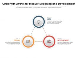 Circle With Arrows For Product Designing And Development