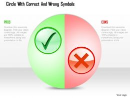 Circle With Correct And Wrong Symbols Powerpoint Template