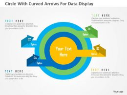 Circle With Curved Arrows For Data Display Flat Powerpoint Design