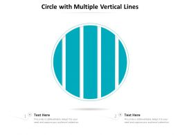 Circle With Multiple Vertical Lines