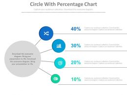 Circle With Percentage Chart Powerpoint Slides