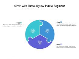 Circle With Three Jigsaw Puzzle Segment