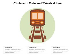 Circle With Train And 2 Vertical Line
