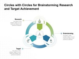 Circles With Circles For Brainstorming Research And Target Achievement