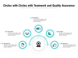 Circles With Circles With Teamwork And Quality Assurance