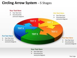 Circling Arrow diagram System 5 Stages 8
