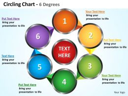 circling chart 6 degrees with arrows connected powerpoint diagram templates graphics 712