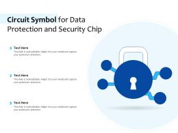 Circuit Symbol For Data Protection And Security Chip