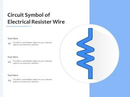 Circuit Symbol Of Electrical Resister Wire