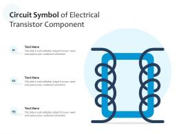 Circuit Symbol Of Electrical Transistor Component