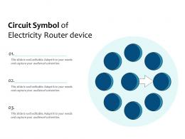 Circuit Symbol Of Electricity Router Device