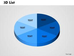 circular 3D List Pie 1