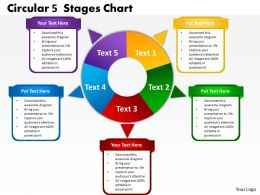 circular 5 stages chart powerpoint templates graphics slides 0712